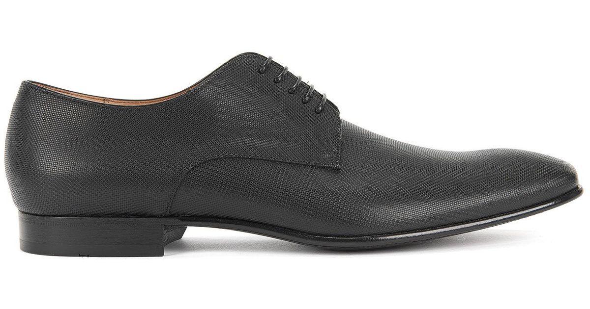Lyst Boss Italian Leather Derby Dress Shoe Prindo In Black For Men