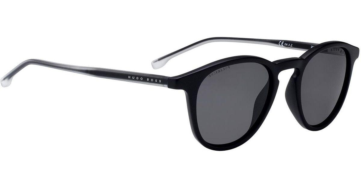 77dcd833c6 BOSS Optyl Sunglasses With Polarised Lenses in Black for Men - Lyst