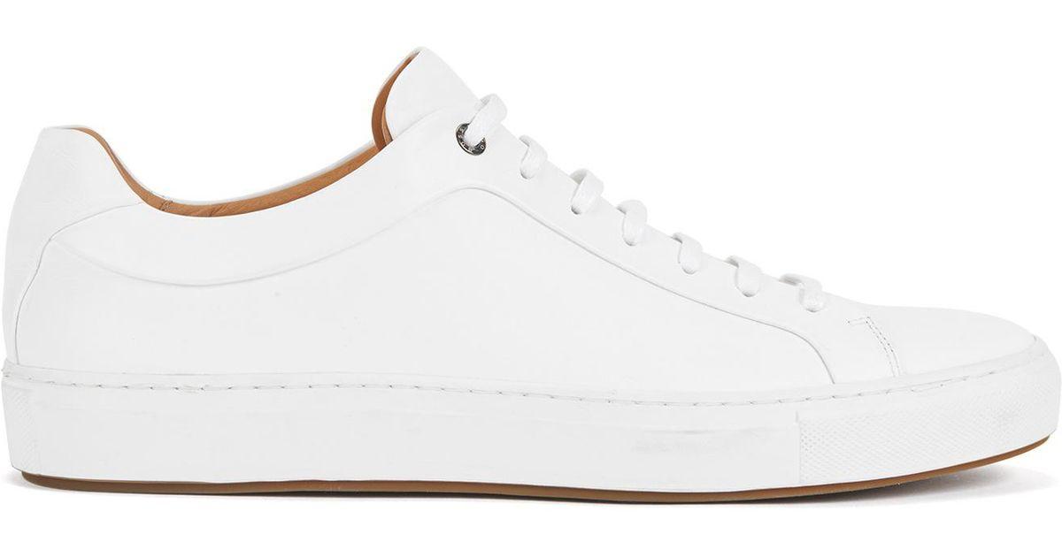 6e05029257e BOSS Leather Sneaker   Mirage Tenn in White for Men - Lyst