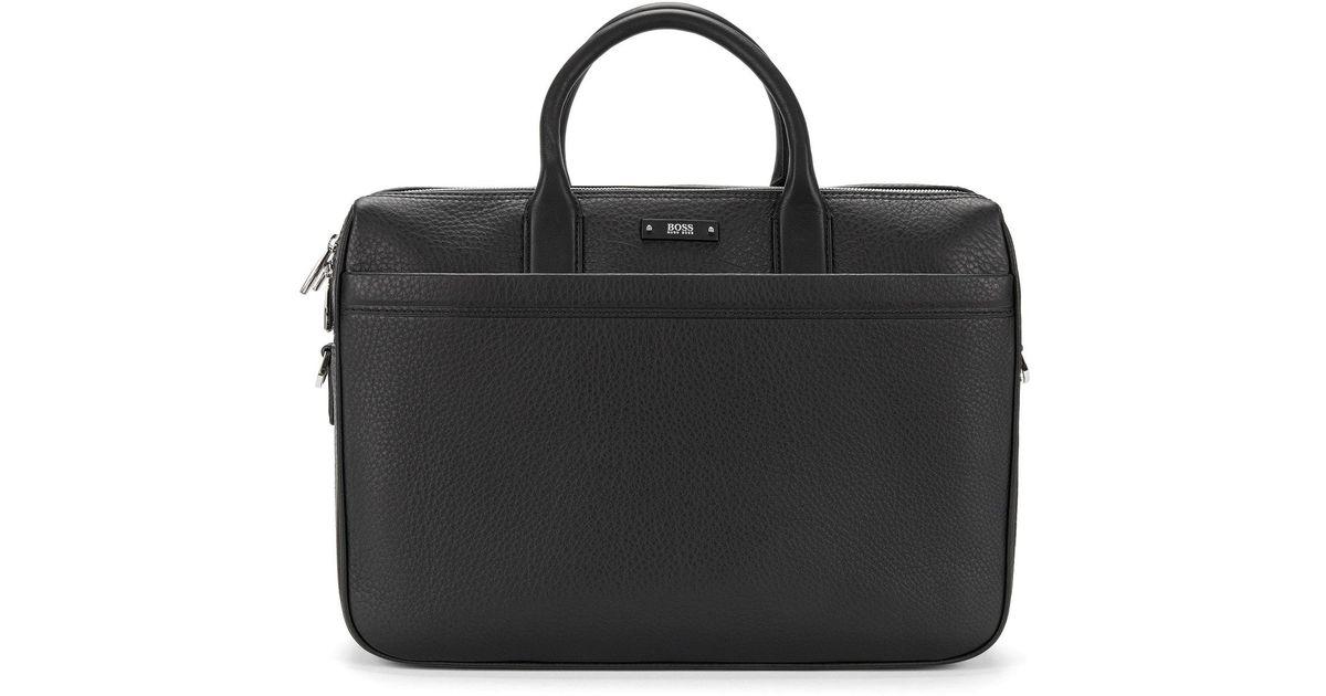 374f9a29e94 BOSS Leather Laptop Bag: 'traveller_d Doc' in Black for Men - Lyst