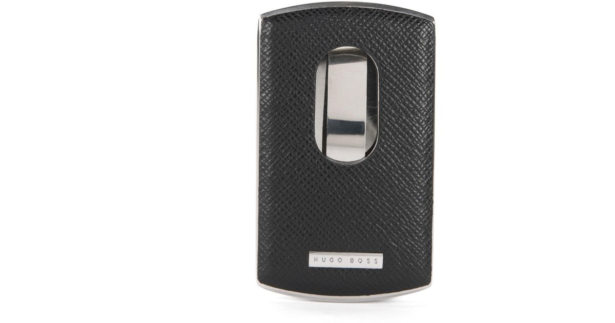 Lyst - Boss Metal Card Case With Leather Trim: \'signature Metal_card ...