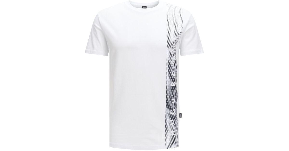 2b980656 Lyst - Boss Cotton Logo Uv T-shirt | T-shirt Rn in Natural for Men