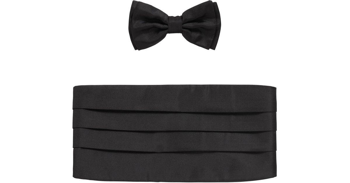 551d5a906a discount hugo boss ties collection e4672 c1a09; coupon code for lyst boss  silk cummerbund bow tie set in black for men e8695 206f0