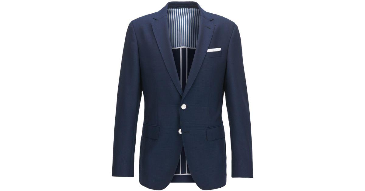 22e3e9026 Lyst - BOSS Virgin Wool Sport Coat, Slim Fit | Hartlay in Blue for Men