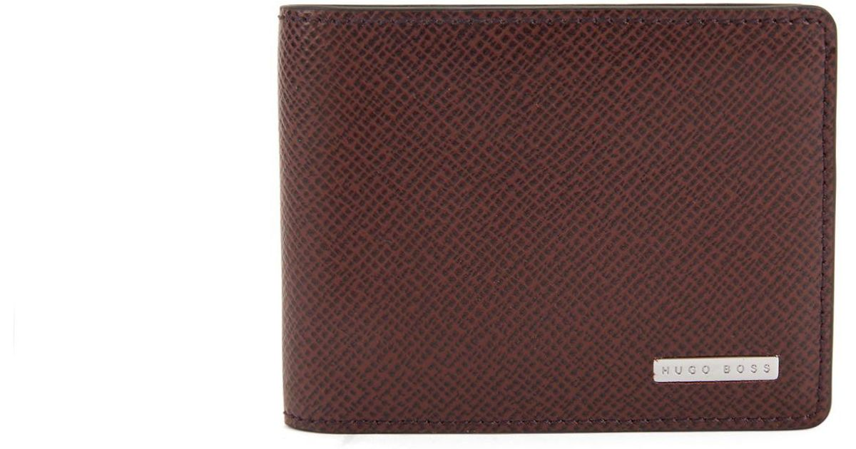 8c99075e4d BOSS Signature Collection Wallet In Palmellato Leather in Red for Men - Lyst