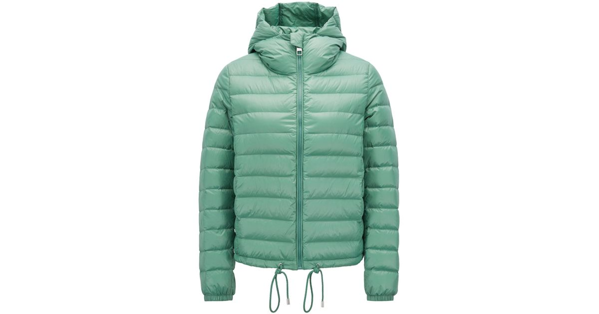 d35e504b1e BOSS Lightweight Down-filled Jacket With Water-repellent Outer in Green -  Lyst