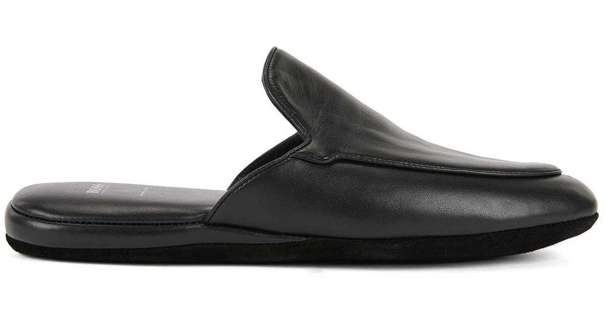 2d9697459 BOSS Slip-on Shoes In Nappa Leather in Black for Men - Lyst