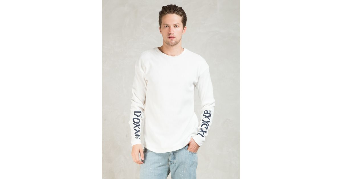 White L S Dvsn Thermal T Shirt In White For Men Lyst