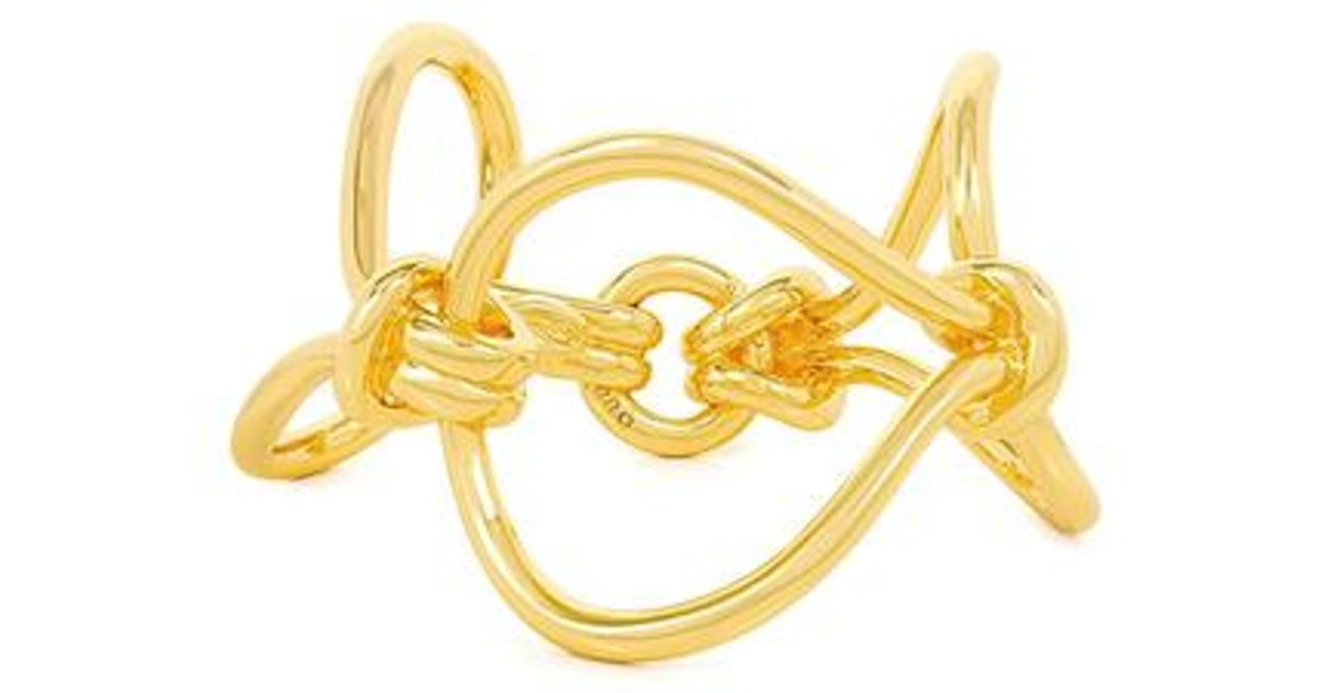 Giles & Brother Cortina Loop Chain Bracelet Gold Plated a2xH0W2n