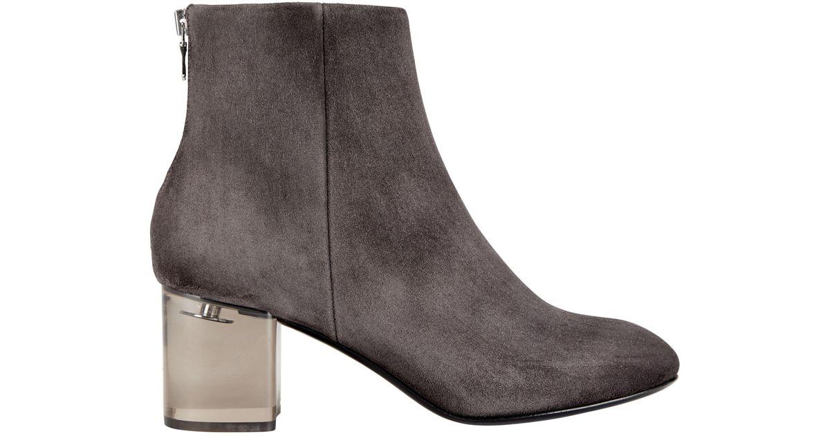 589512cf5c0 Lyst - Rag   Bone Drea Lucite Heel Booties in Gray