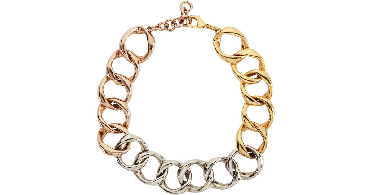 circle tri gold ttfm products silver charles necklace sterling krypell triple tone