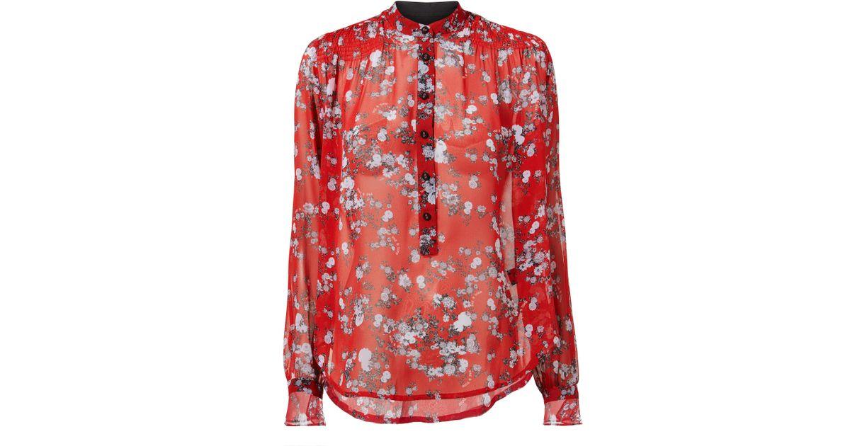 096e72a12ddffa Rag & Bone Susan Red Garden Blouse in Red - Lyst