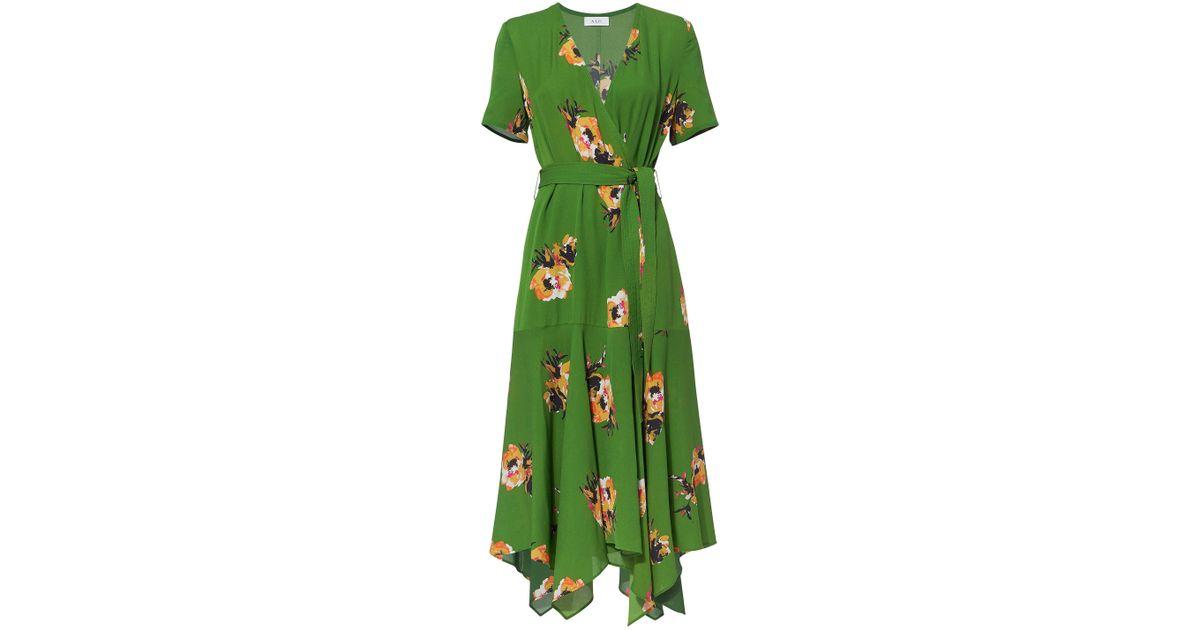 6f31c83713 A.L.C. Cora Floral Wrap Dress in Green - Lyst