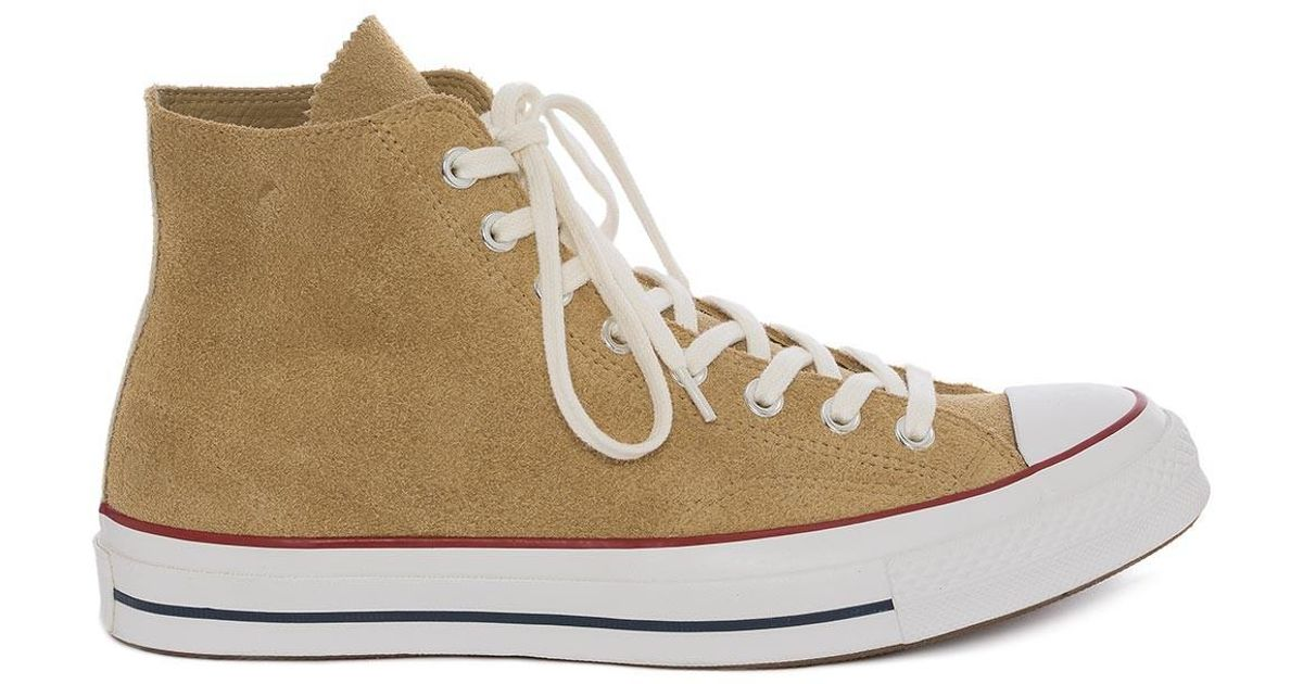 313b8ad1443 J.W. Anderson Mens Gold Suede Chuck Taylor All Star Converse in Metallic  for Men - Lyst