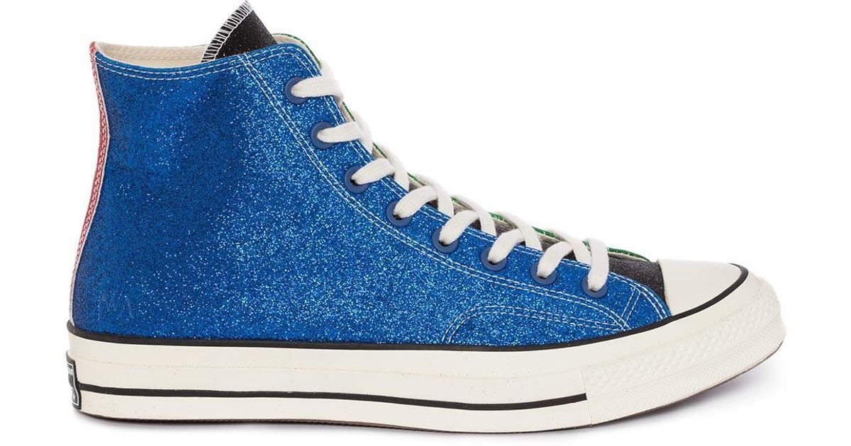 fdd9f3d6583f Lyst - JW Anderson Womens Blue   Green Glitter Chuck Taylor Converse in Blue