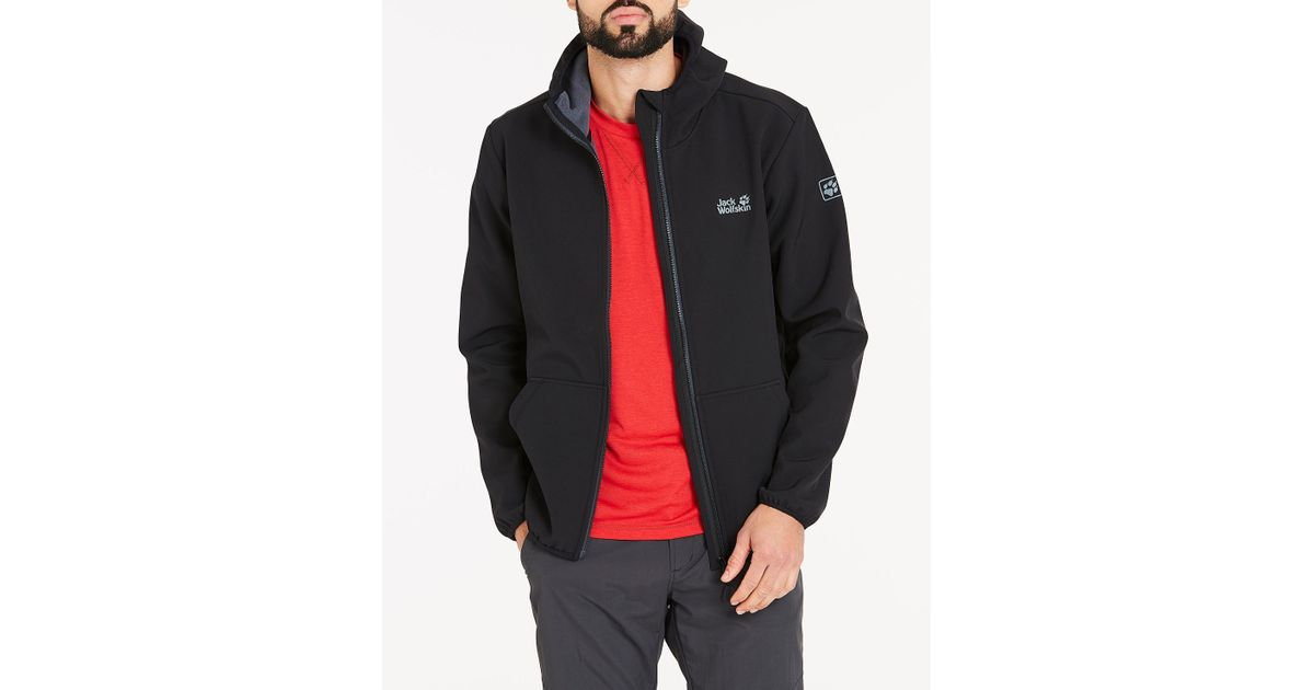 47e59db231 Jack Wolfskin Essential Peak Jacket in Black for Men - Lyst
