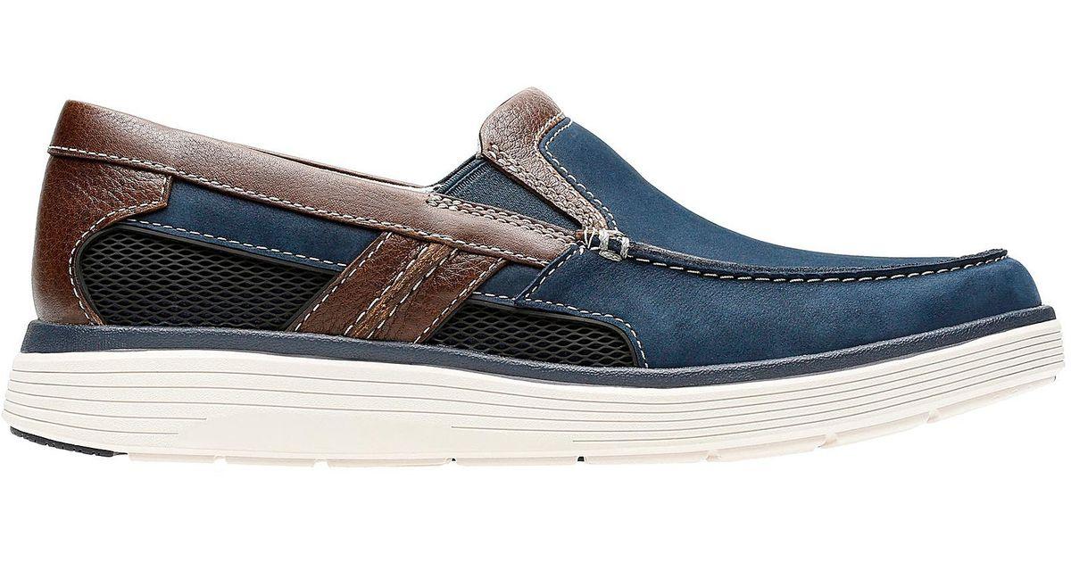 d13366c4be9 Clarks Un Abode Free Shoes in Blue for Men - Lyst