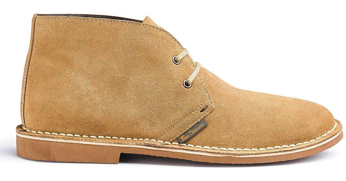 4ad3063d874 Ben Sherman - Natural Hunt Desert Boots Wide Fit for Men - Lyst