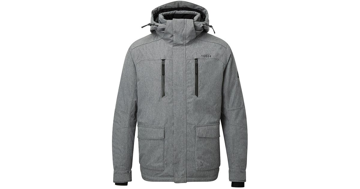 Tog 24 Grey Marl Rogan Waterproof Insulated Ski Jacket in Gray for Men -  Lyst 1795676ca