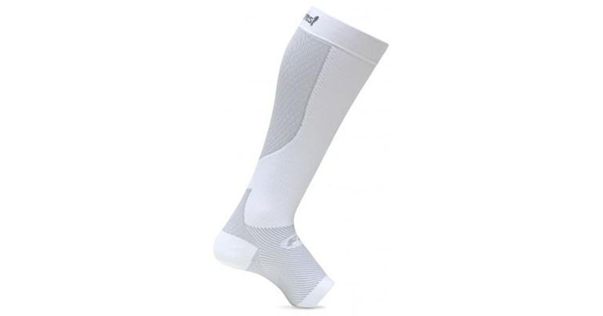 43b7463987 Unisex Plantar Fasciitis Compression Calf Sleeve Pair in White for Men