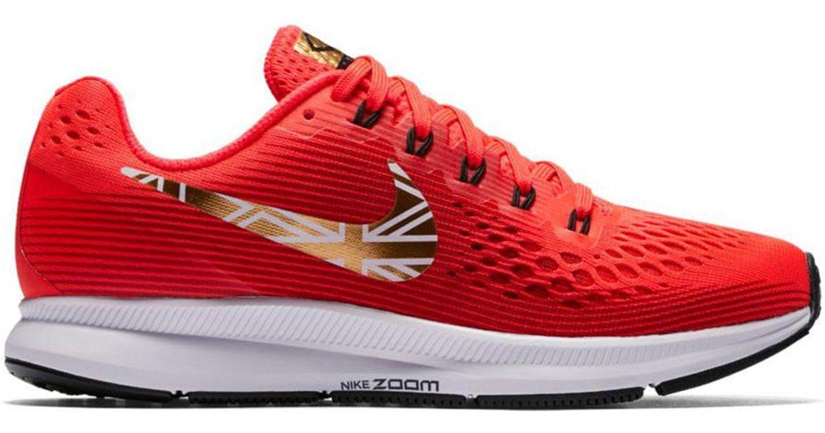 29292fc04714 Lyst - On Women s Nike Air Zoom Pegasus 34 Running Shoe - Mo Farah Editi in  Red for Men