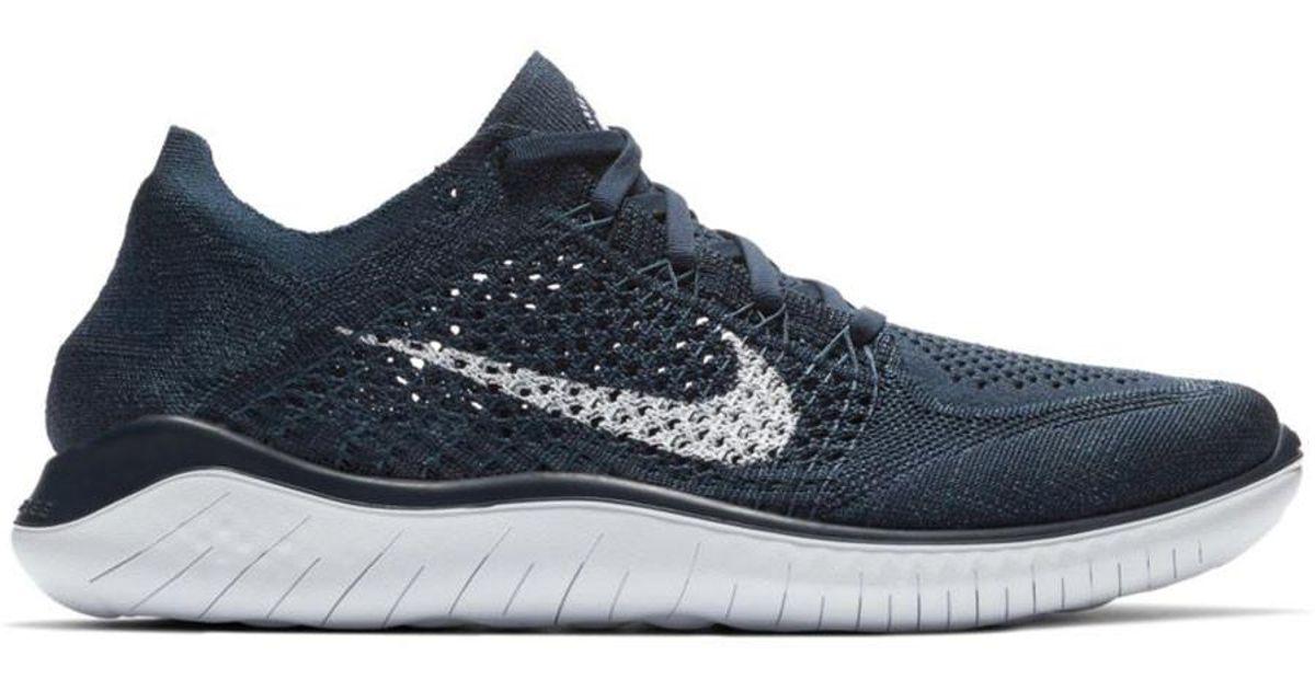 a87e7824ec543 Lyst - Nike Free Rn Flyknit 2018 in Blue for Men
