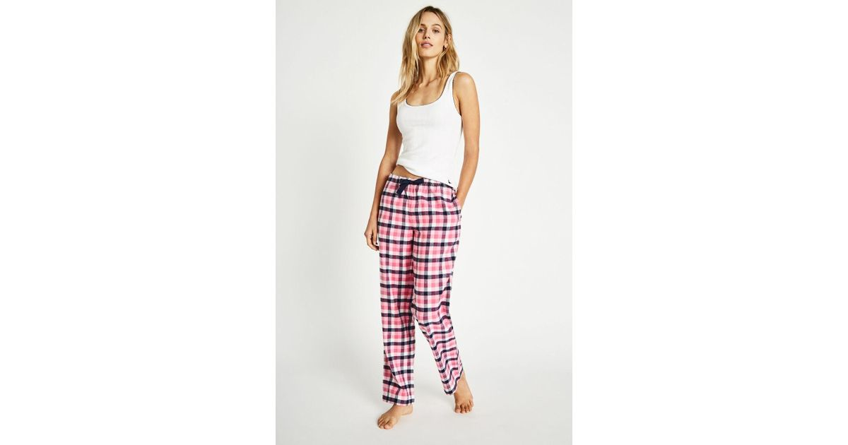 be9463e1f6 Jack Wills Fretherne Check Flannel Lounge Pant in Pink - Lyst
