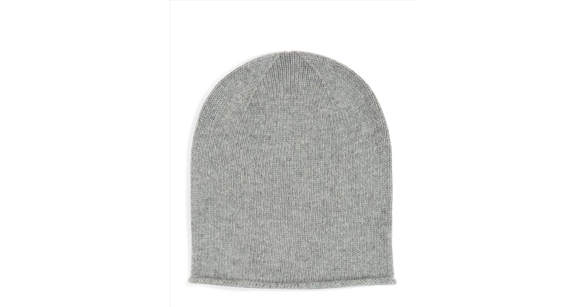 3b3aded5315cf Lyst - Jaeger Cashmere Knitted Hat in Gray