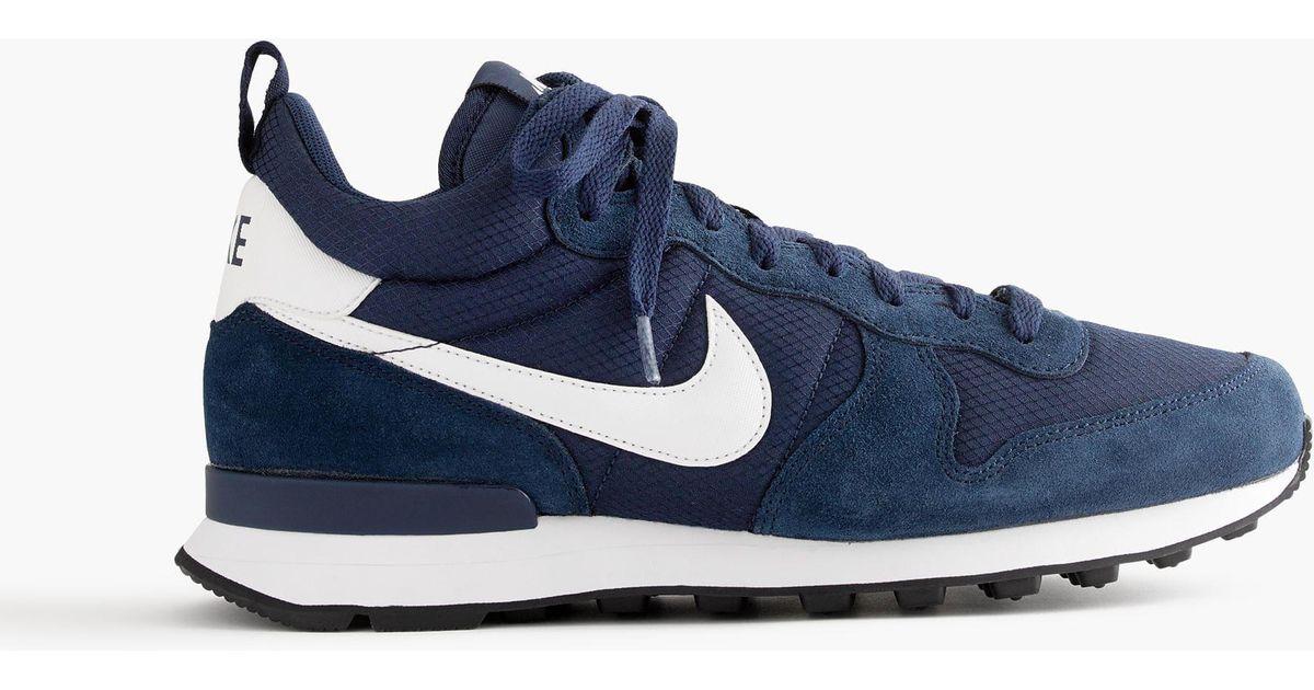 best sneakers 71524 ce77d Sneakers Box, Leather Sneakers J.Crew Nike Internationalist Mid Sneakers In  Navy in Blue for Men - Lyst ...