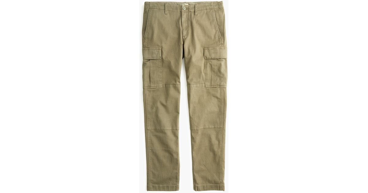 a010e5b3037914 J.Crew 770 Straight-fit Stretch Cargo Pant In Garment-dyed Herringbone in  Green for Men - Lyst