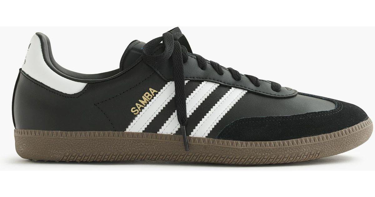 b6ab8f1a6c ... australia lyst j.crew adidas samba sneakers in black for men 5913e 9dcbf