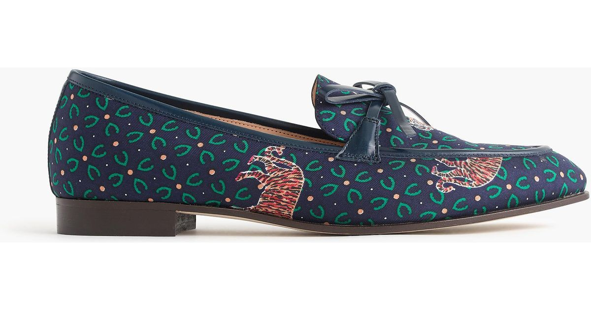 d7a923501f3 Lyst - J.Crew Academy Loafers In Tiger Print in Blue