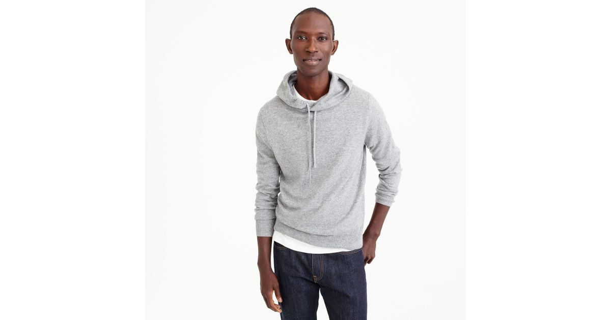 fcc2f37eb73 Lyst - J.Crew Everyday Cashmere Hoodie In Grey in Gray for Men