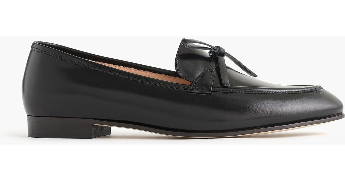 3ab054c1b07 Lyst - J.Crew Academy Loafers In Leather in Black