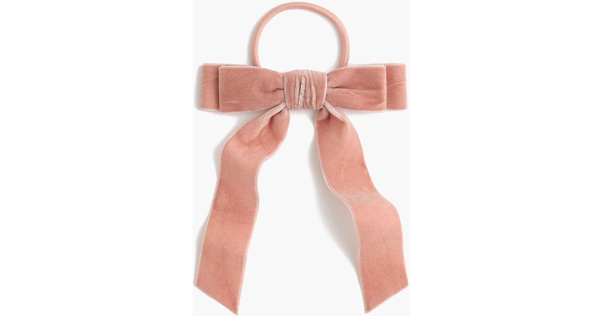 Lyst - J.Crew Velvet Hair Tie in Pink 5b090b0bb12