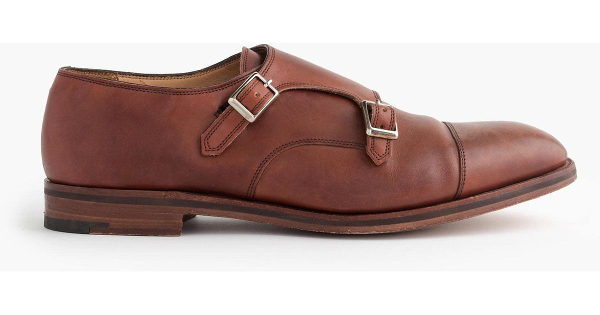 9ce7a63475280 J.Crew Alfred Sargent Double Monk Strap Shoes in Brown for Men - Lyst