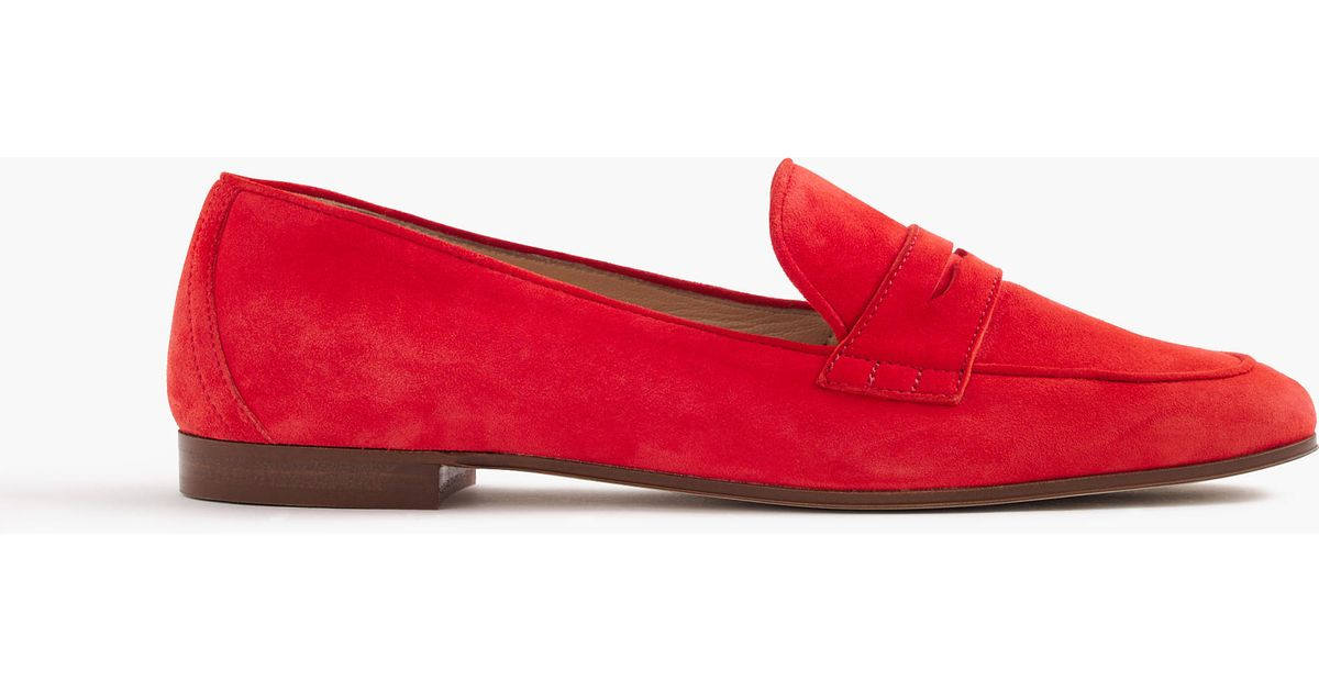 eb49130bd25 J.Crew Charlie Penny Loafers In Suede - Lyst