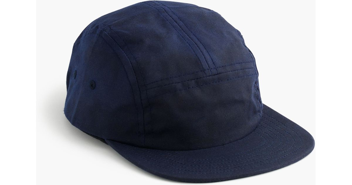 a3f81a3dedab0 J.Crew Fairends Waxed Cotton Camp Cap in Blue for Men - Lyst