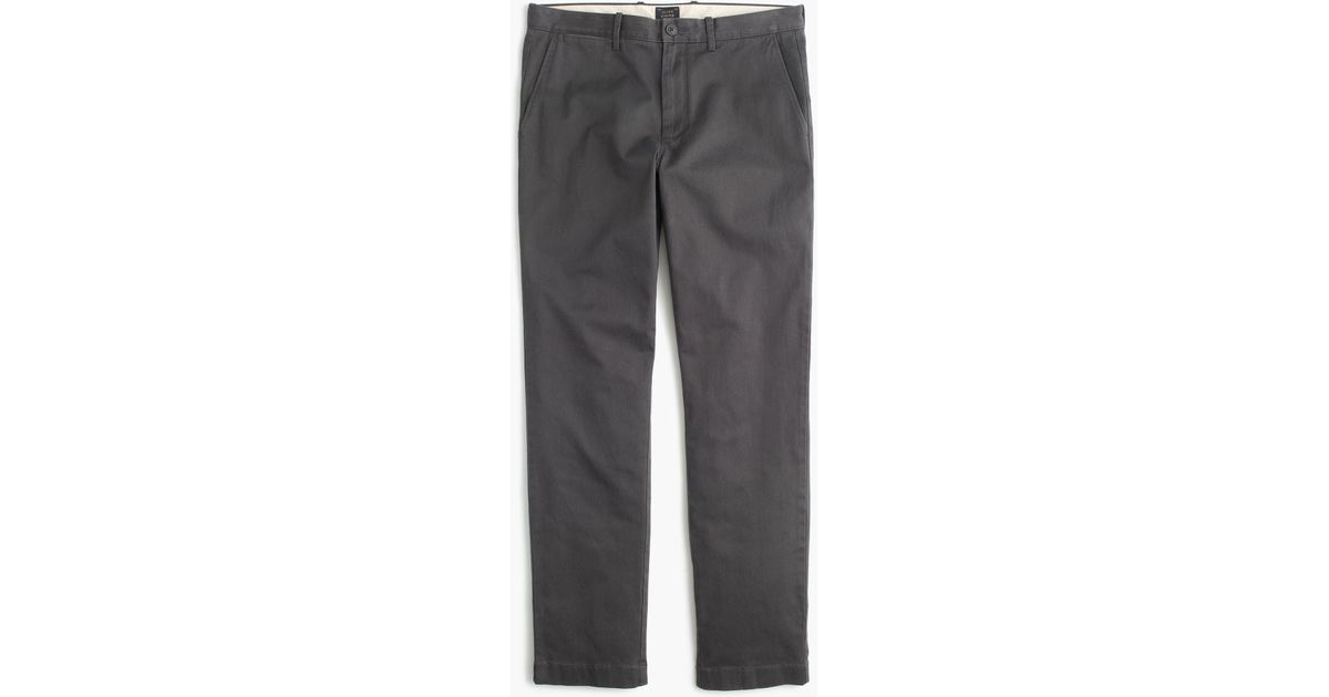 4420c11e J.Crew Stretch Chino Pant In 770 Straight Fit in Gray for Men - Lyst