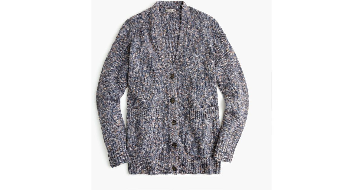 point sur oversized patch-pocket cardigan sweater