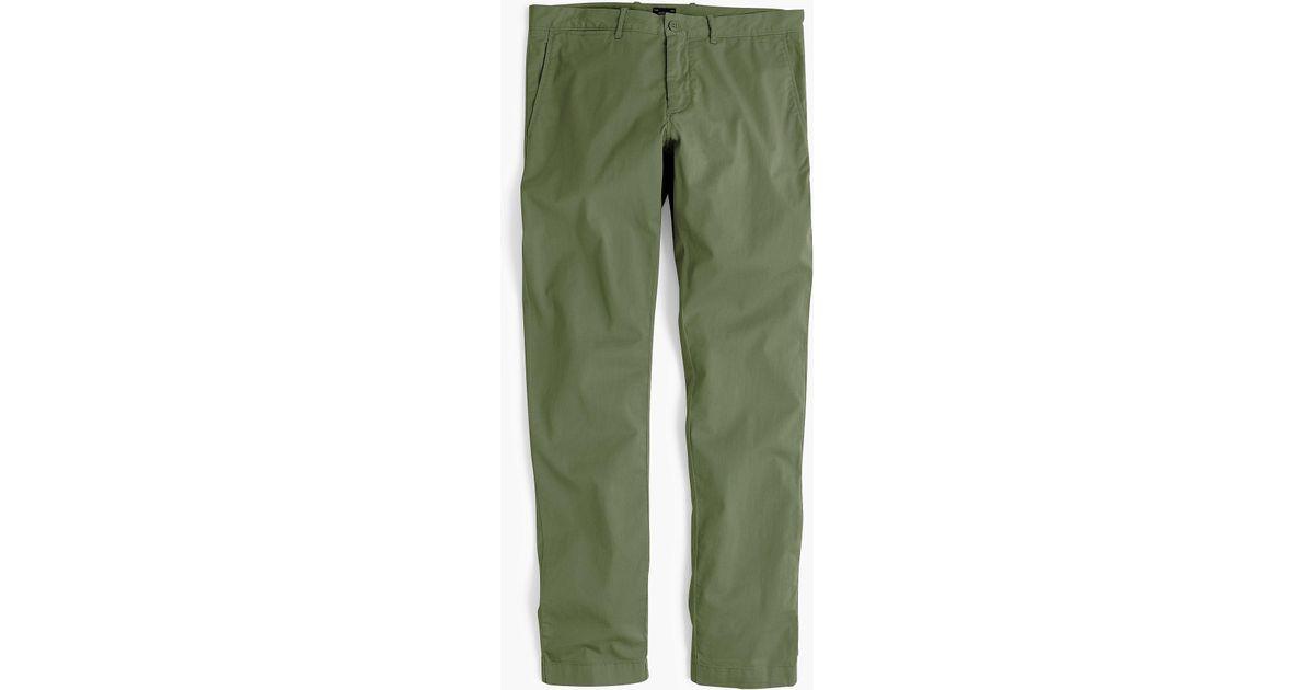 adb32f114982 Lyst - J.Crew 484 Slim-fit Lightweight Garment-dyed Stretch Chino in Green  for Men