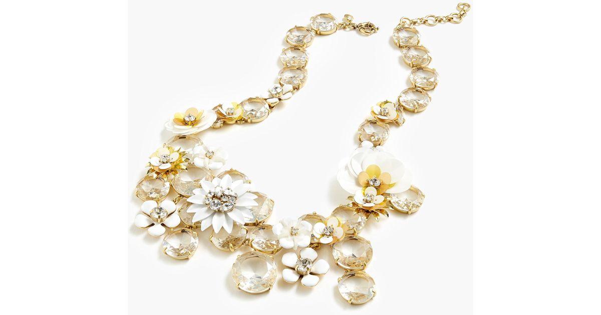 Jew Flower Statement Necklace In White Lyst