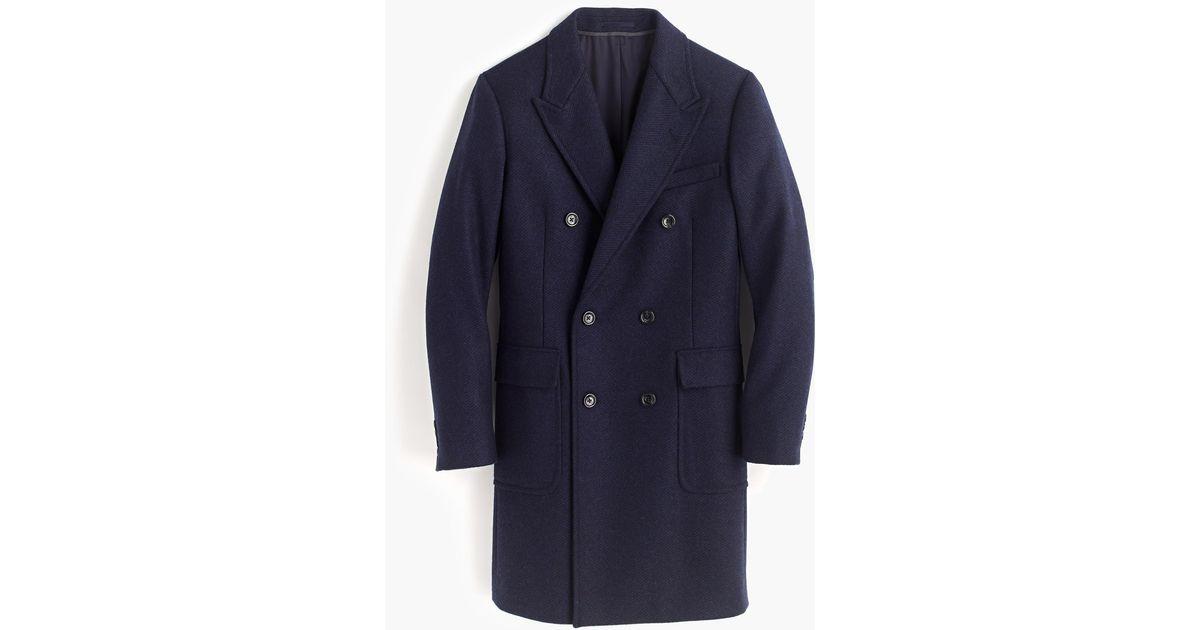 J.Crew Ludlow Double-breasted Topcoat In French Herringbone Wool in ...