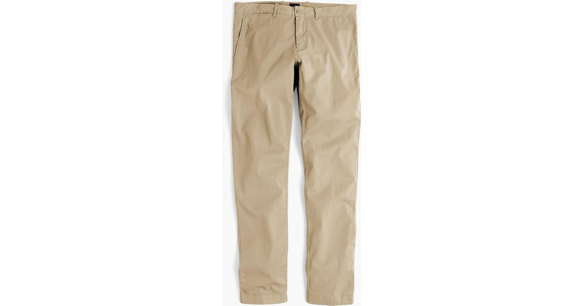 0644e1124383eb Lyst - J.Crew 484 Slim-fit Lightweight Garment-dyed Stretch Chino in  Natural for Men