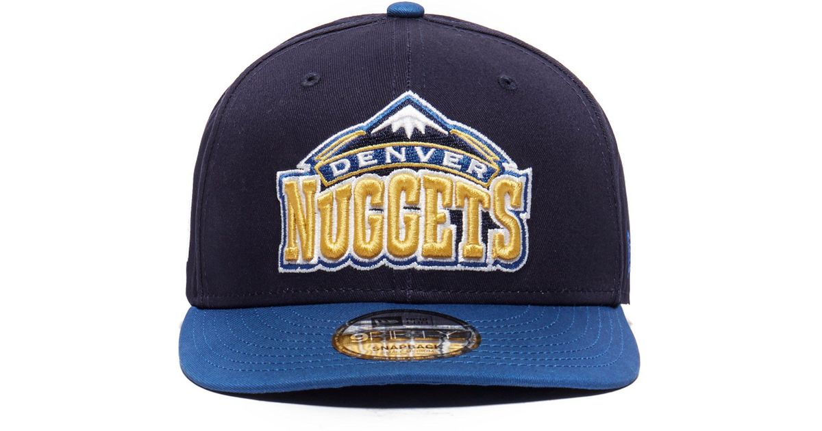 low priced 3c4a6 3e656 ... coupon code for ktz nba denver nuggets 9fifty cap in blue for men lyst  0c8d7 fa879