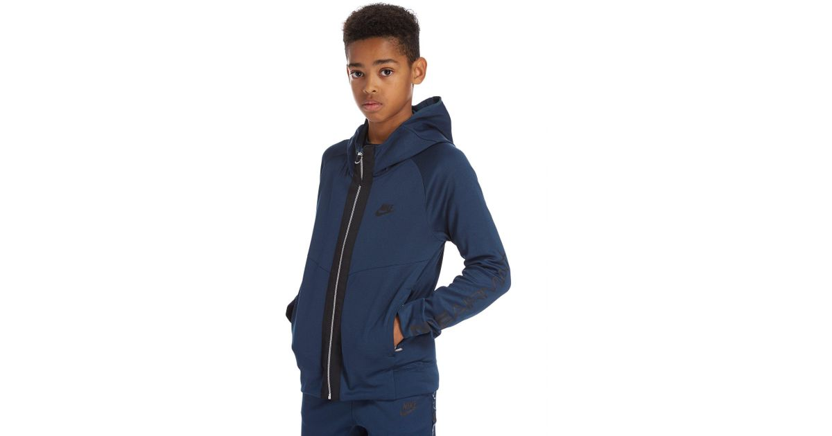 5f2dd357092a Lyst - Nike Air Max Poly Hoodie Junior in Blue for Men