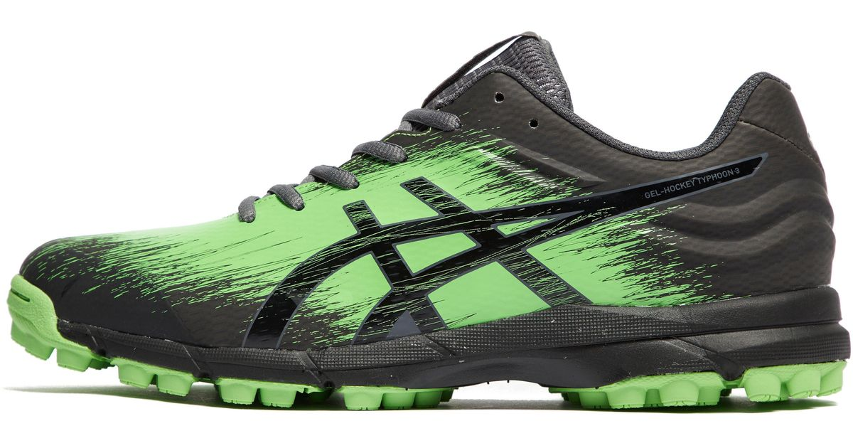 siempre popular mayor descuento vendido en todo el mundo Asics Synthetic Gel-hockey Typhoon 3 in Black/Green (Green) for ...