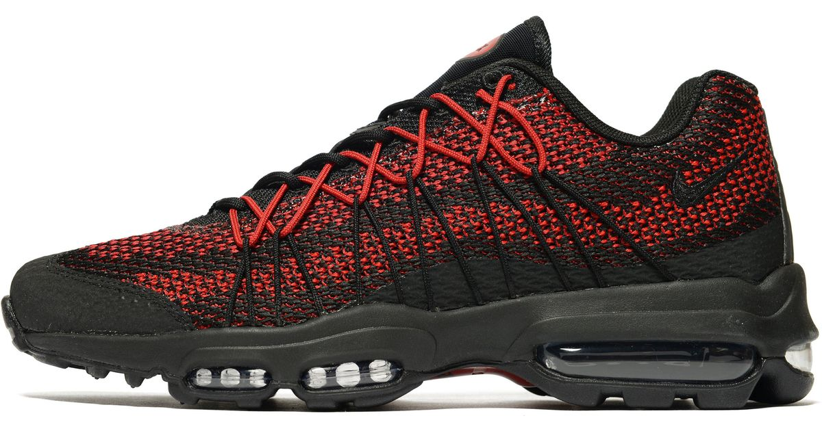 97e2a2d5520d ... sale lyst nike air max 95 ultra jacquard in red for men be5c8 98a36