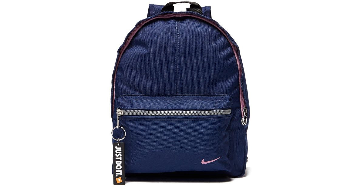 ca28092a5a Nike Just Do It Mini Backpack in Blue - Lyst