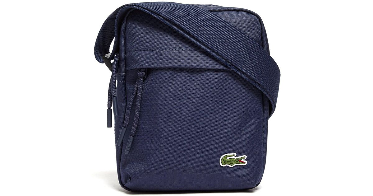 6dbb1d66cf9 Lacoste Navy Small Format Fabric Shoulder Bag in Blue for Men - Lyst